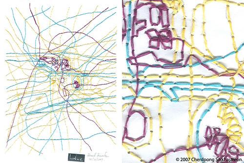 LINEart Polaroid SX70 artwork series no.3