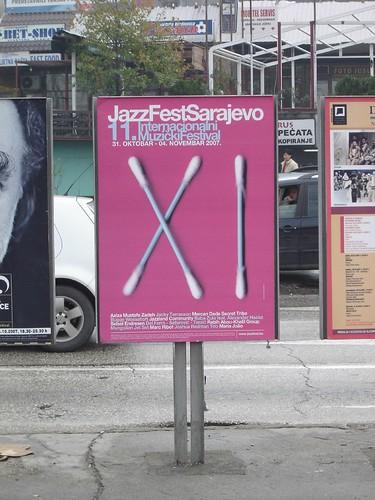 Reclama pentru festivalul de jazz din Sarajevo