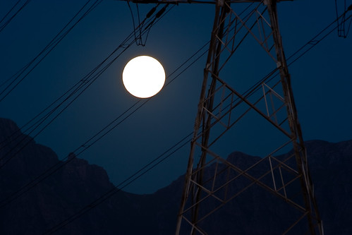 Pylon at Full Moon