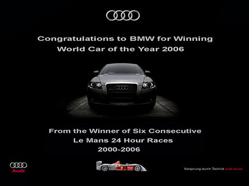 Contestación Audi a BMW