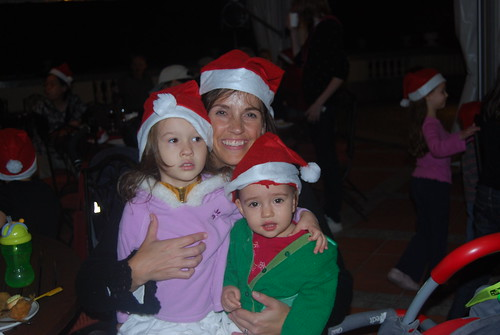 Mommy and Girls at the RB Christmas Party