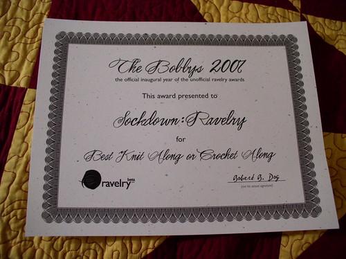 Bobbys Award