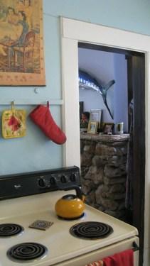 View through the kitchen.