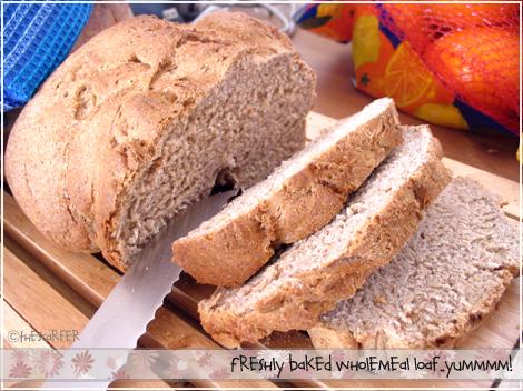 Fresh wholemeal loaf!