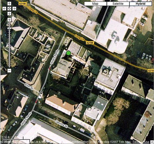 Location of Eelam house on Google Earth+Google Maps