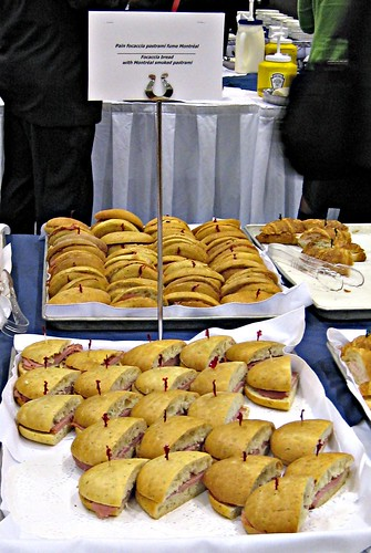 Cardiologists' Food, Foccacia Bread with Montreal Smoked Pastrami