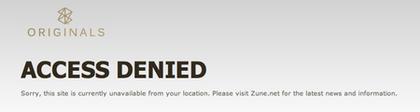 Zune - Access Denied