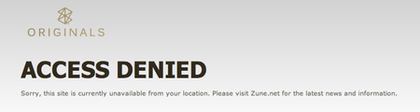 Zune - Access Denied