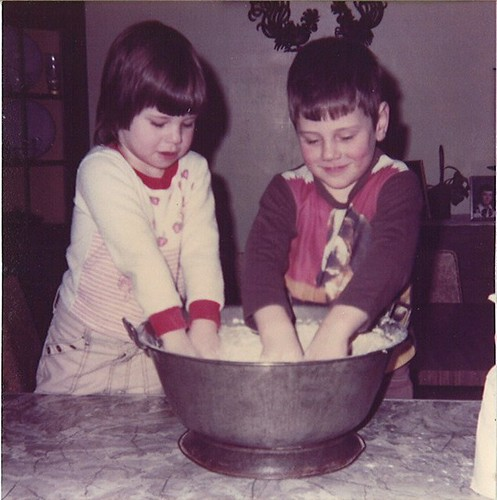 Me 'n my bro' making bread