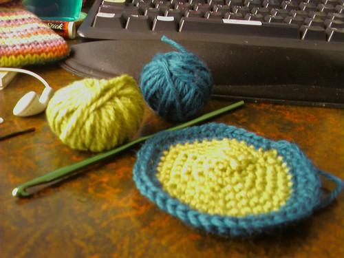 I'm crocheting!