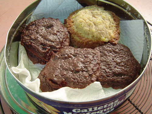 chocolate and lemon cookies
