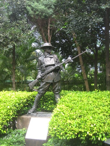 Monument to those who defended Hong Kong in December, 1941.