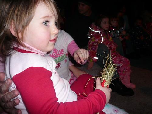 Ella and her reindeer food from santa