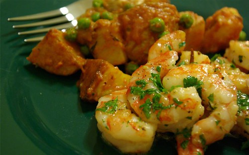 shrimp and potatoes