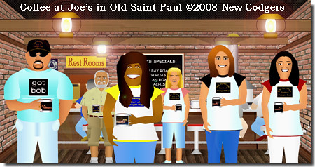 Coffee at Joe's in Old Saint Paul ©2008 New Codgers