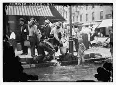 Summer scene, N.Y. - drinking water from stree...