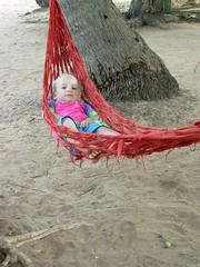 Tash in the hammock, Koh Tonsay