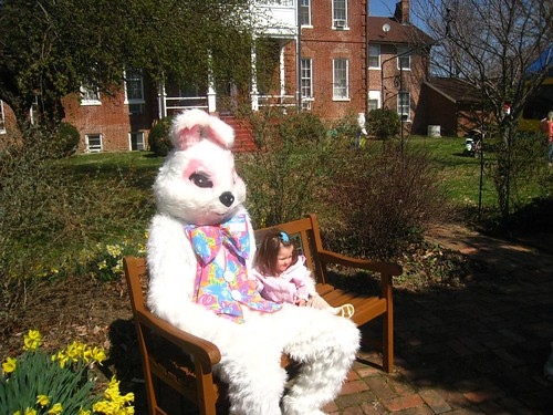 Amelia with the Easter Bunny