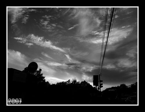 Tormented skies