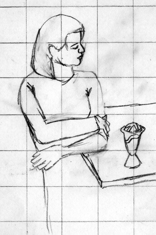 Ice cream eaters - sketch 1 - cropped