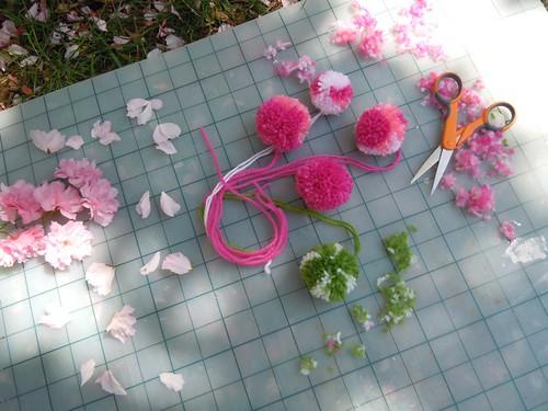 Cherry blossoms v. pom poms