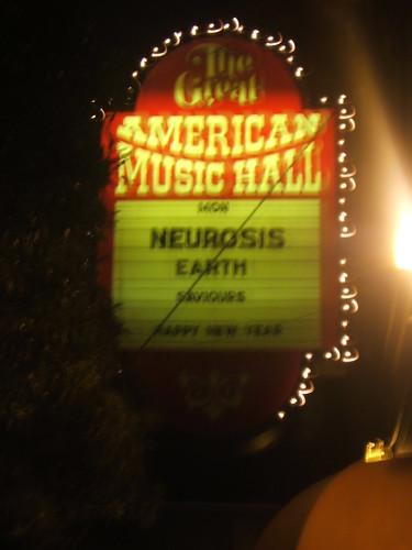 neurosis at great american music hall