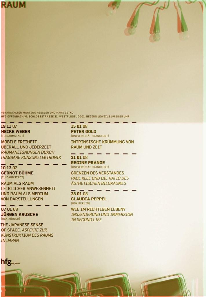 Raum-Plakat HFG-Offenbach