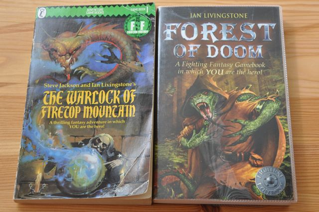 Fighting Fantasy game-books.