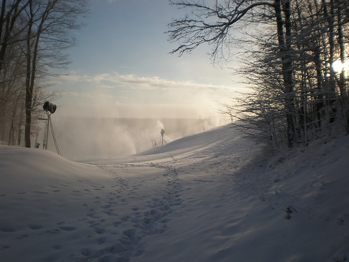 Snowmaking on Victor @ Boyne Mountain