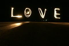 Flickr writting LOVE manihi midnight airport