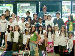 Alunos do 4º ano no Clube Transatlântico