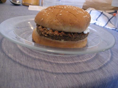 Lentil & Walnut burgers