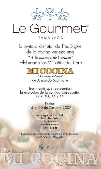 Armando Scannone y Mi Cocina en Le Gourmet