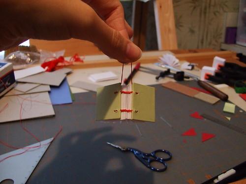 Tiny Coptic Stitch Book Ornament