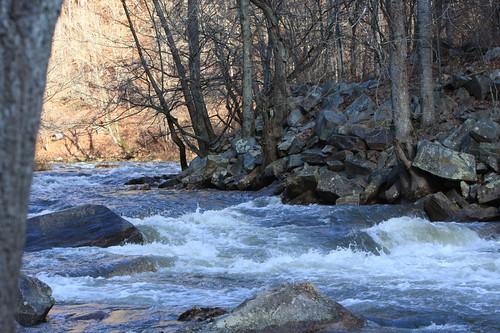 Lesser Wesser Falls on the Nantahala River (Class III)