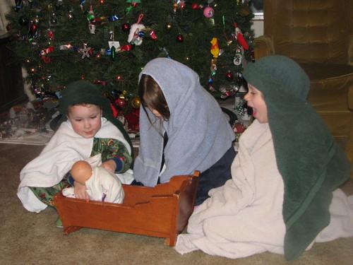 Joseph, Mary, & Shepherd