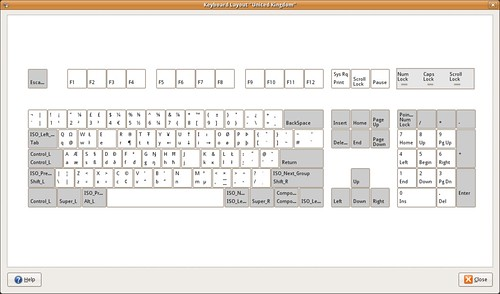 Keyboard layout GB