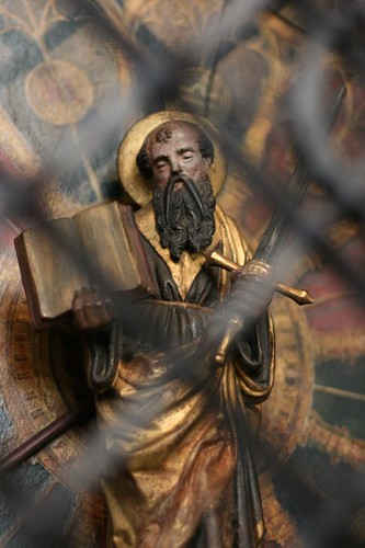 San Paolo, statua lignea (1540), St. Paulus Dom, Münster.