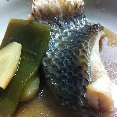 チヌ鯛の煮付け #dinner