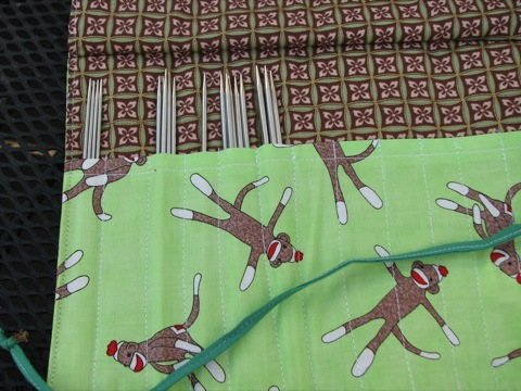 Monkey Sock Needle Case from Karen