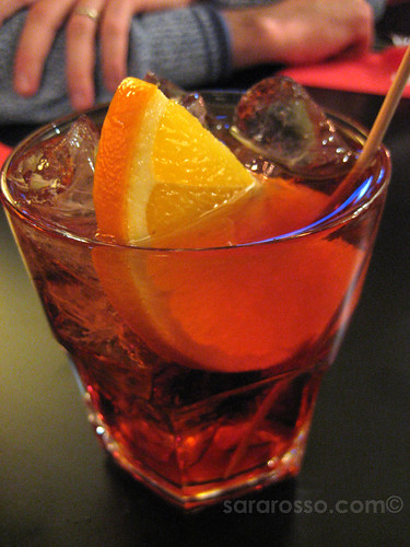 Negroni for Aperitivo Italiano in Italy