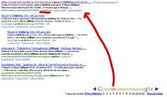 Esempio indicizzazione Google