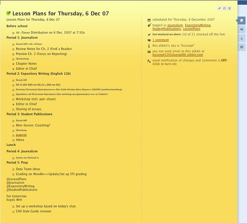 Stikkit Lesson Planning