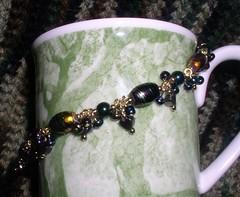 Black and Metallic Bracelet