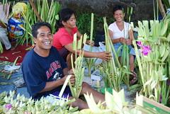 Happy Palm Frond Vendors