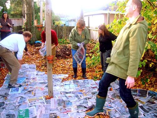 First layer- newspaper