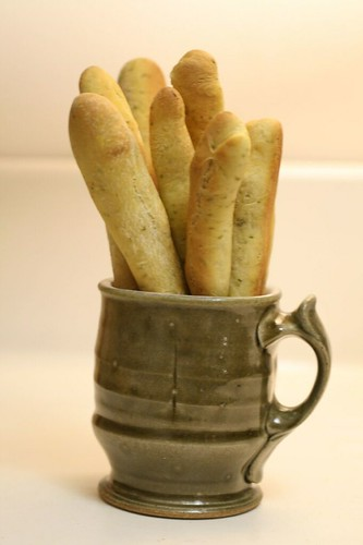 Saffron Basil Breadsticks