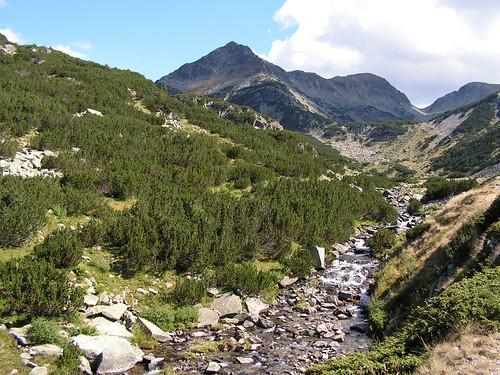 Река Валявица, Мозговишката порта и връх Валявишки чукар в ляво