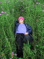 IMG_0595 Olga Lying in a Field of Wildflowers