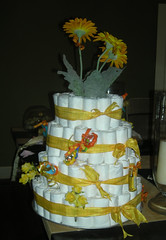 Full Length of Diaper Cake
